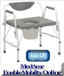 Bariatric Commode Chair Heavy Duty Drop Arm Seat