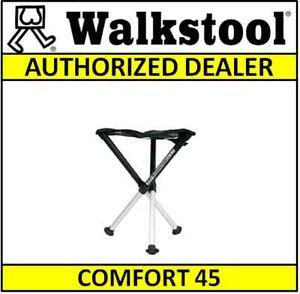 "Walkstool Comfort 45 cm 18"" Heavy Duty Portable Folding Stool Chair w Case"