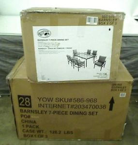 Hampton Bay Barnsley Patio Dining Chair Set 6 Chairs Only