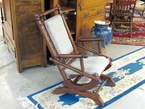 Antique Beautiful 1800's Platform Rocker Arts Crafts Style Great Condition