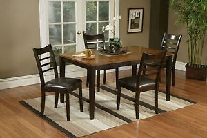 Alpine Furniture Berkeley 5 Piece Set Dining Table 4 Side Chairs
