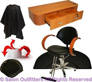 Hydraulic Barber Chair Wood Styling Station Hair Mat Beauty Spa Salon Equipment