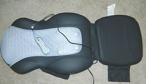 Homedics QRM 400H Shiatsu Quad Roller Heat Back Massager Chair Cushion Massage