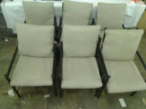 Hampton Bay Barnsley Patio Dining Chairs 6 Chairs Only