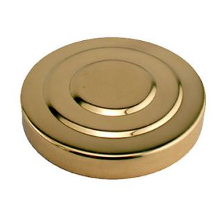 "Polished Brass Replacement Draft Beer Tower Cap for 3"" Diameter Tower Keg"