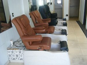 4X Pedicure Spa Machines Nail Foot Chairs Beauty Salon Equipment Works Great