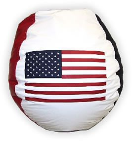 New Large Bean Bag Beanbag Chair USA American Flag