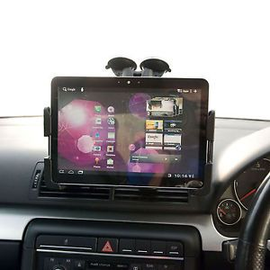 Car Vehicle Dual Windscreen Mount Kit Slim Holder for Samsung Galaxy Tab 10 1""