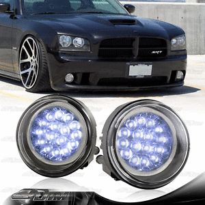 2003 2005 Dodge Neon 2006 2009 Dodge Charger White LED Driving Fog Light Lamps
