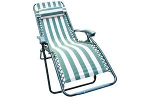 New Adjustable Foldable Beach Garden Chair Multi Position Sun Lounger Reclining
