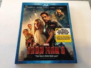 New SEALED Marvel Iron Man 3 Blu Ray DVD Combo P