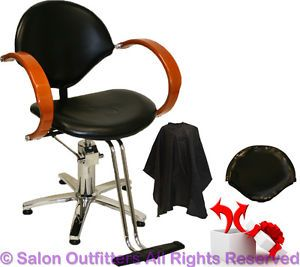 New Hydraulic Barber Chair Honey Oak Arms Styling Hair Beauty Salon Equipment