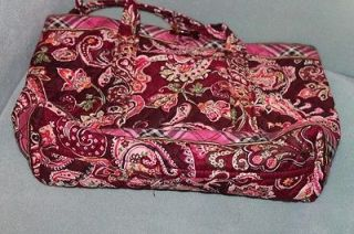 Vera Bradley Piccadilly Plum Medium Tote Bag Purse