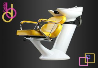 Shampoo Backwash Unit Bowl Chair Salon Spa Sink Equipment New Mustard