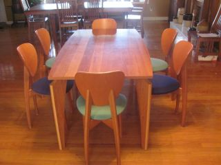 Calligaris Made in Italy Dining Room Table with 6 Chairs Art Deco Style 1926