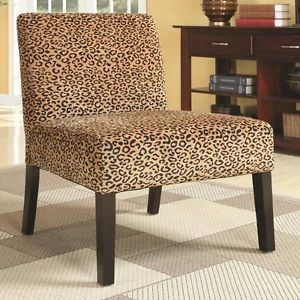 Leopard Print Pattern Fabric Accent Leisure Chair by Coaster 900184