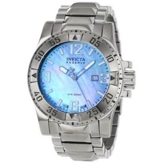 Invicta Men's Reserve Collection Blue Mother of Pearl Stainless Steel Watch