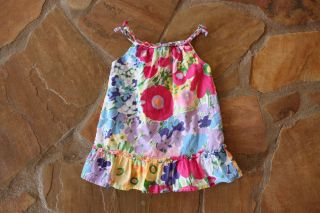Baby Gap Floral Sundress Dress 12 18 Months mths Girls White Purple Pink