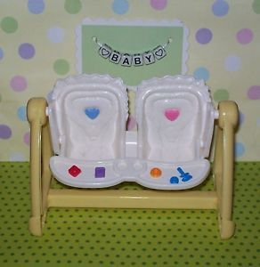 Fisher Price Loving Family Dream Dollhouse Twin Girl Boy Yellow Baby Swing Seat