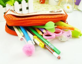 1pcs Large Capability Pencil Pen Case Cosmetic Makeup Bag Gift 27style