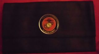 Auto Document Holder Organizer Jotter Pen USMC Marine Corps Black USMC Emblem