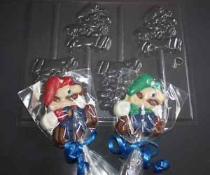 New Super Mario Bros Nintendo Party Supplies Favor Chocolate Candy Pop Mold
