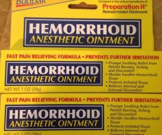 2 Hemorrhoid Anesthetic Ointment Fast Pain Relieving Formula 1 0z