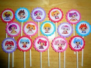 15 Lalaloopsy Inspired Cupcake Toppers Birthday Party Favors Supply