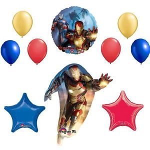 New Iron Man 3 Balloons Set Birthday Party Supplies Decorations Movie Super Hero