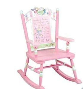 Children Kids Girls Pink Fairy Rocking Chair and Table Set New CLEARANCE