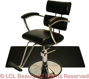 Sturdy Chrome Hydraulic Barber Chair Styling Hair Mat Beauty Spa Salon Equipment