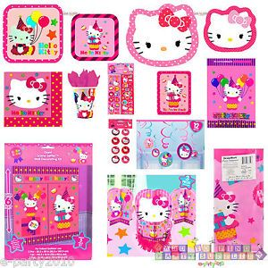 Hello Kitty Birthday Party Supplies Pick 1 or Create Set Balloons Cupcakes