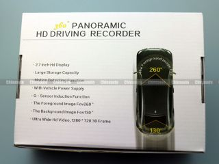 Full HD 360 Degree Panoramic Car DVR Driving Recorder Video Camera Camcorder 2 7