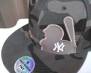 New York Yankees Baseball Camo Fitted Cap Hat Size Small