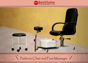 Pedicure Station Chair Foot Spa Unit with Stool Beauty Salon Equipment New