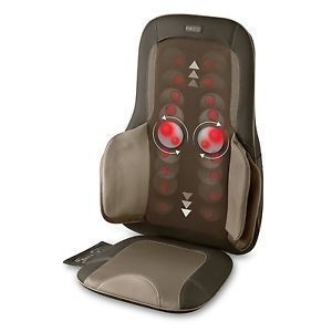 Homedics Shiatsu Massage Cushion Heat Massaging Back Therapist Chair Massager