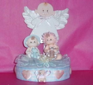 Baby Shower Twins Topper Diaper Cake Cupcakes Centerpiece Hospital Gift