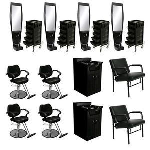 Beauty Salon Equipment Styling Chair Station Trolley Shampoo Cabinet Bowl DP 40