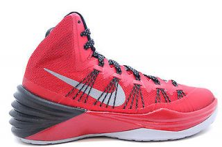 599537 602 Mens Nike Hyperdunk 2013 Zoom University Red Black Metallic Silver