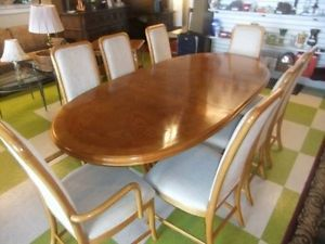 Lexington Dining Room Set Table w Leaf 8 Chairs Matching China Hutch $5K New