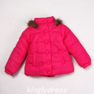NW Toddle Kid Girl Winter Coat Jacket Outerwear Sweater Cerise Pink Sz 3 4T V916