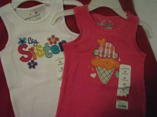Jumping Beans Toddler Girls Clothing Shirt Top Tank Big Sister Ice Cream Cone