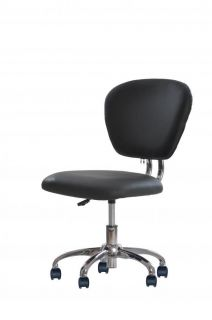 New Black PU Leather Mid Back Mesh Task Chair Office Desk Task Chair H20