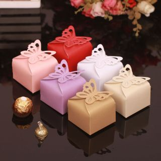 Butterfly Pattern Gift Candy Boxes Bomboniere Baby Shower Wedding Party Favor