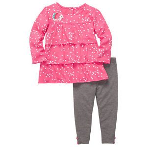 Carters 2 Piece Newborn Baby Girl Pink Legging Outfit Fall Clothes 9 Months