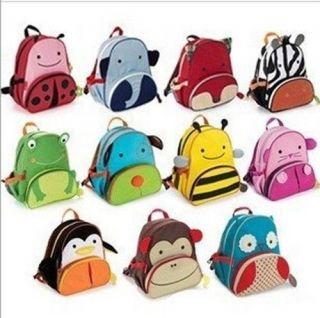 Baby Toddlers Kid Zoo Animal Backpack School Bag Assorted for Child Gift