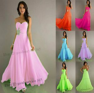 Hot Sell Chiffon Formal Party Prom Evening Chiffon Dresses Size 6 8 10 12 14 16
