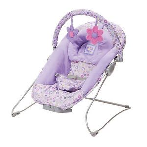 Jasmine Lavender Floral Infant Bouncy Baby Bouncer Seat Vibrating Musical New
