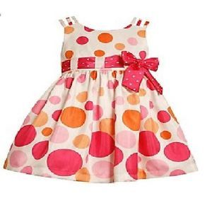 Bonnie Jean Dress Girls 2T Polka Dot Shantung Birthday Party Summer