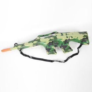 Cool Inflatable Blow Up Camouflage Military Rifle Kids Role Playing Game Toys